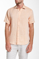 Report Collection Short Sleeve Linen Modern Fit Sport Shirt