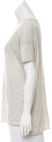 Nili Lotan Knit Short Sleeve Top