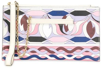 Emilio Pucci abstract print clutch