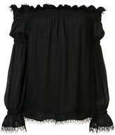 Oscar de la Renta off-the-shoulder blouse - women - Silk - 8