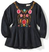 Girl's Peek Emma Embroidered Top