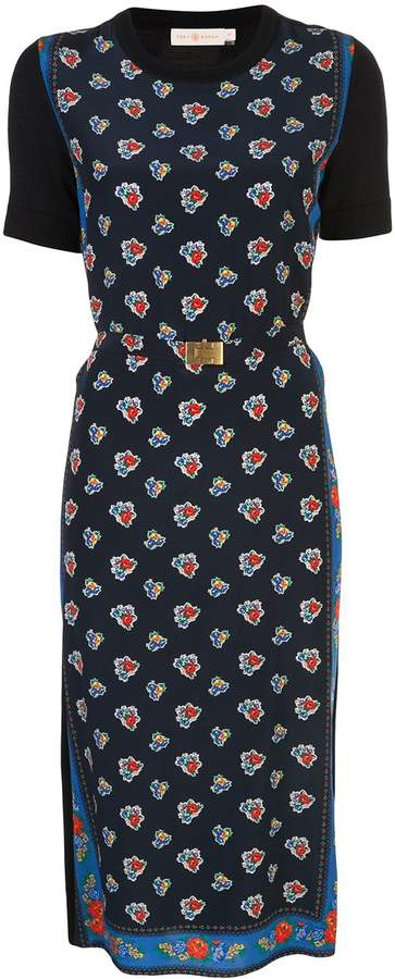 Tory Burch Floral-Print Midi Dress