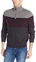 Dockers Quarter-Zip Soft-Acrylic Color-Block Sweater