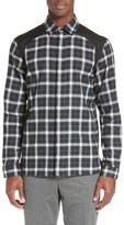 Neil Barrett Contrast Panel Plaid Shirt