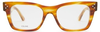 Celine D-frame Acetate And Metal Glasses - Tortoiseshell