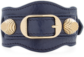 Balenciaga Women's Classic Buckle Leather Bracelet
