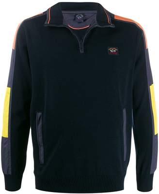 Paul & Shark colourblock polo shirt
