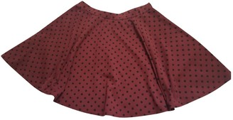 Topshop Tophop Red Cotton Skirt for Women