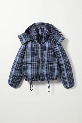 Weekday Hanna Short Puffer Jacket - Blue