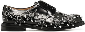 Comme des Garcons safety pin-embellished Oxford shoes