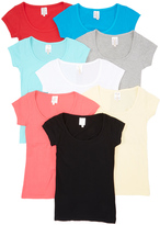 Neutral & Bright Eight-Pack Crew Neck Tee Set