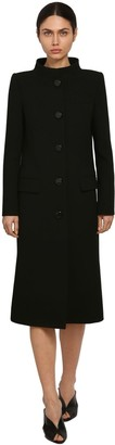 Givenchy DOUBLE WOOL CREPE MIDI COAT