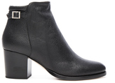 Jimmy Choo Leather Method Bootie in Black.