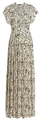 Proenza Schouler Printed Chiffon Maxi Dress