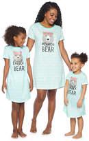 Asstd National Brand Short Sleeve Nightshirt-Toddler Girls