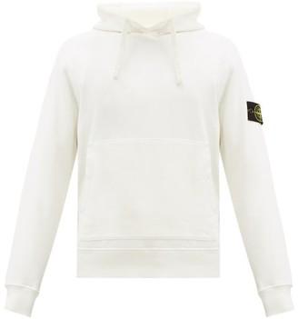 Stone Island Logo-patch Cotton-jersey Hooded Sweatshirt - Mens - Ivory