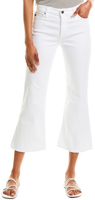 AG Jeans The Quinne White High-Rise Cropped Kick Flare