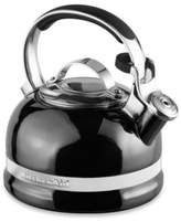 KitchenAid 2-Quart Porcelain Enamel Tea Kettle with Stainless Steel Handle in Pewter