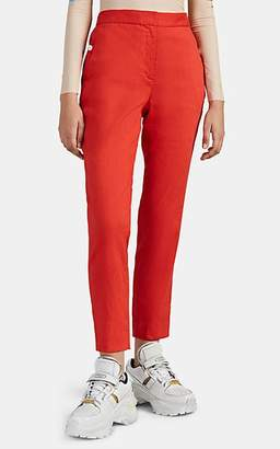 Rag & Bone Women's Poppy Linen-Blend Tapered Trousers - Red