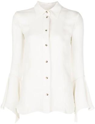 KHAITE Lottie georgette button-up blouse