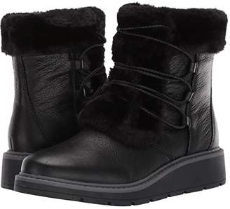 Clarks Ivery Crystal (Black Warm Lined/Waterproof Leather) Women's Lace-up Boots
