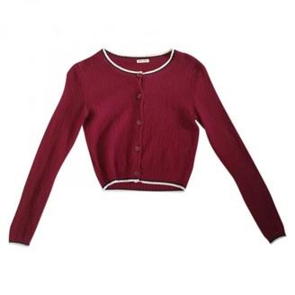 Miu Miu Burgundy Cotton Knitwear for Women