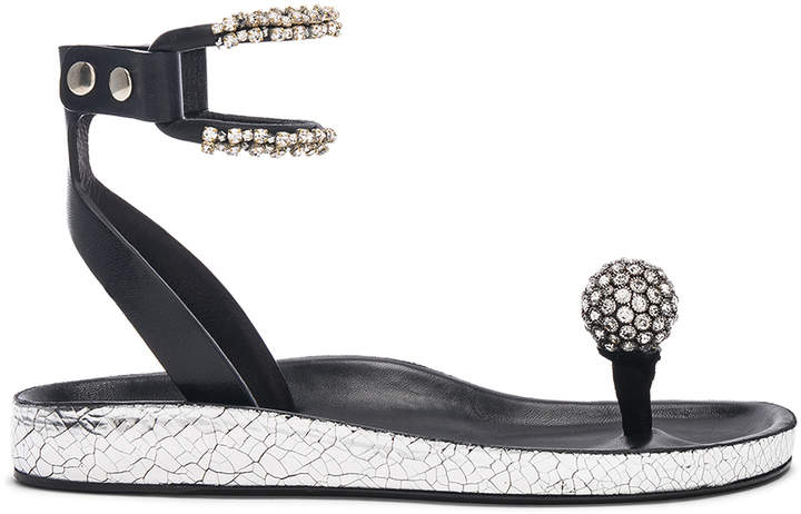 Isabel Marant Metallic Leather Ecly Sandals