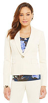 Kasper Petite Single-Button Notch Lapel Jacket