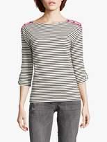 Betty Barclay Striped Top, Black/Cream