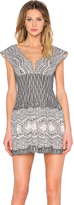 BCBGMAXAZRIA Carolena Scallop Dress