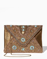 Charming charlie Bronzed Goddess Envelope Clutch