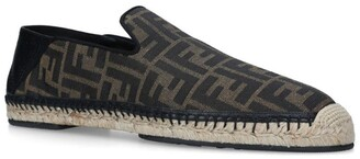 Fendi Canvas Ff Loafers