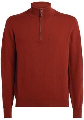 Johnstons of Elgin Half-Zip Cashmere Sweater