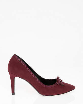 Le Château Jewel Embellished Pointy Toe Bow Pump