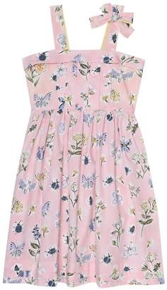 Il Gufo Floral cotton dress