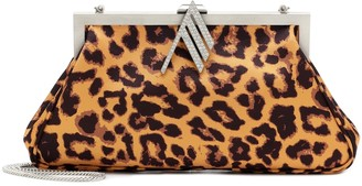 The Attico Alma leopard-print clutch