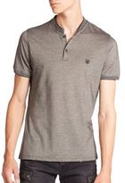 The Kooples Stripe-Trimmed Pique Polo
