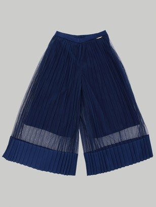 Twin-Set Twin Set Wide Trousers In Pleated Fabric