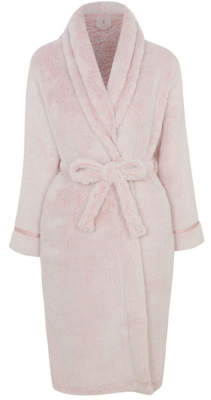 George Pink Long Fleece Dressing Gown
