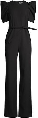 LIKELY Alia Self-Tie Puff-Sleeve Jumpsuit