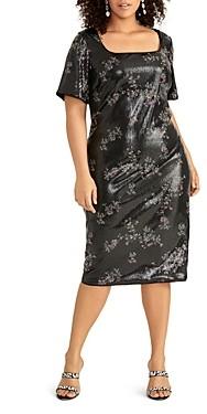 Rachel Roy Plus Liv Floral Sequin Dress