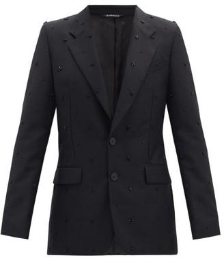 Givenchy Studded Wool-blend Blazer - Black