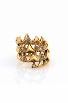 House Of Harlow Pyramid Wrap Ring in Yellow Gold