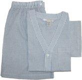 Geoffrey Beene Men's Broadcloth Short Sleeve Short Leg Pajama Set, Xlarge