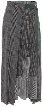 Sacai Wool-blend maxi skirt