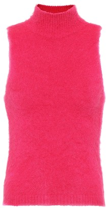 Versace Mohair-blend sleeveless top