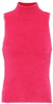 Versace Mohair-blend sleeveless top