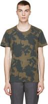 Robert Geller Green Print Drifter T-Shirt
