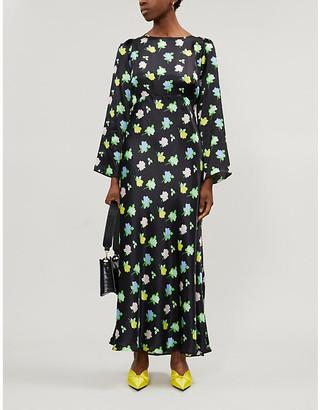 BERNADETTE Jane floral-print silk-satin midi dress