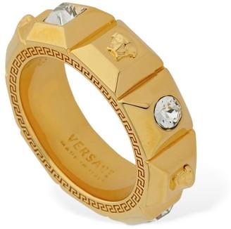 Versace PALAZZO FEDINA RING W/ CRYSTALS